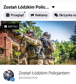 screen  profilu na fb Zostań Łódzkim Policjantem
