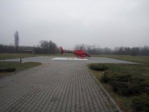Policyjny helikopter