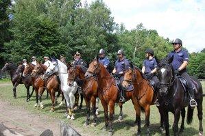 mundurowi na koniach